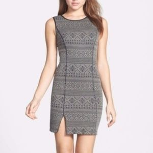 NWOT Grey Piped Willow & Clay Bodycon Dress
